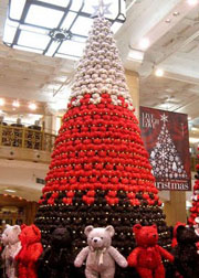 teddy bear tree - Bear Christmas Tree