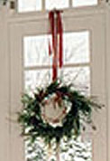 Hanging wreath Christmas decorations