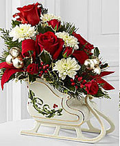 vases and baskets as christmas table decorations