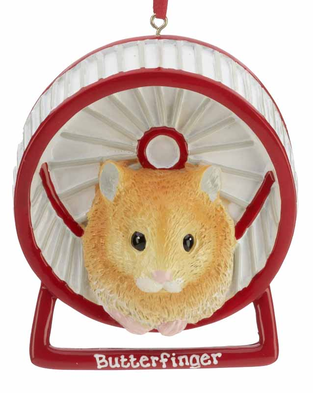 Hamster ornament for your pets this Christmas. | OrnamentShop.com