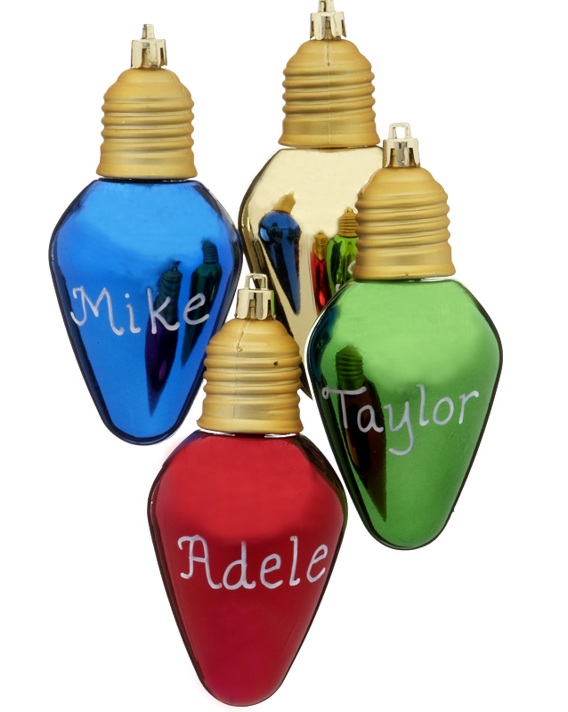 Vintage Light Bulb Christmas Ornaments - Top Trends In Christmas Decorations For 2012 - Christmas Ornament Blog