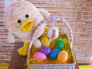 Hop into spring with colorful easter decorations easter basket easter decoration solutioingenieria Choice Image