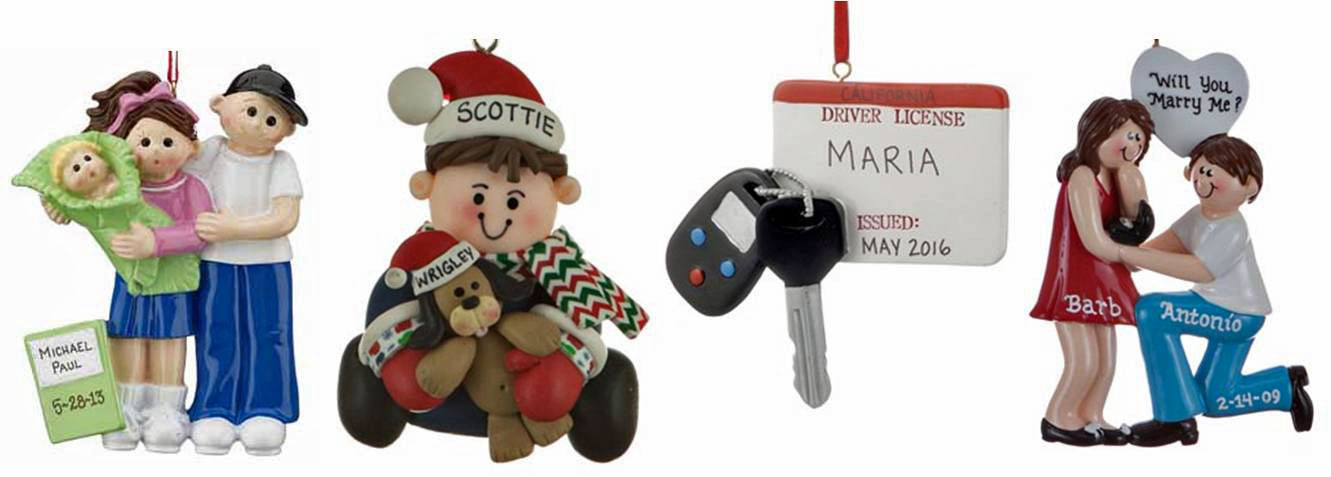 More examples of ornaments for you to find the right personalized gift topper for the next celebration | OrnamentShop.com