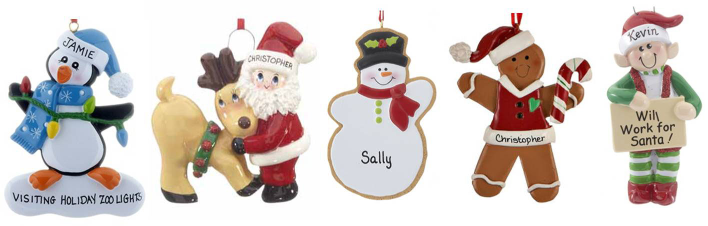 A selection of ornaments perfect for topping envelopes during the Christmas Holiday season | OrnamentShop.com