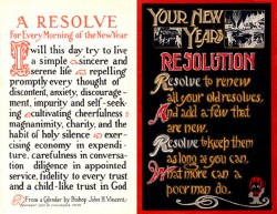 New Years Resolution Card Circa 1915