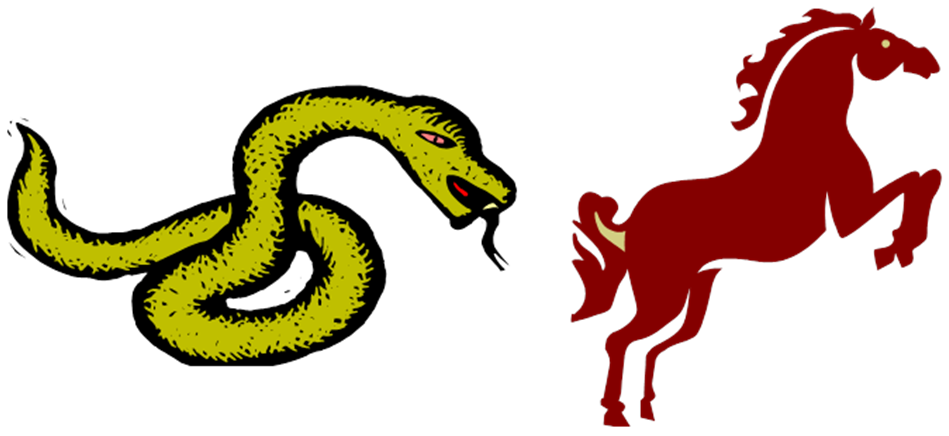 chinese new year - snake and horse