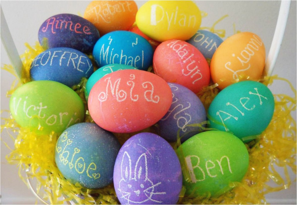 How To Make Personalized Dyed Easter Eggs For The Entire ...