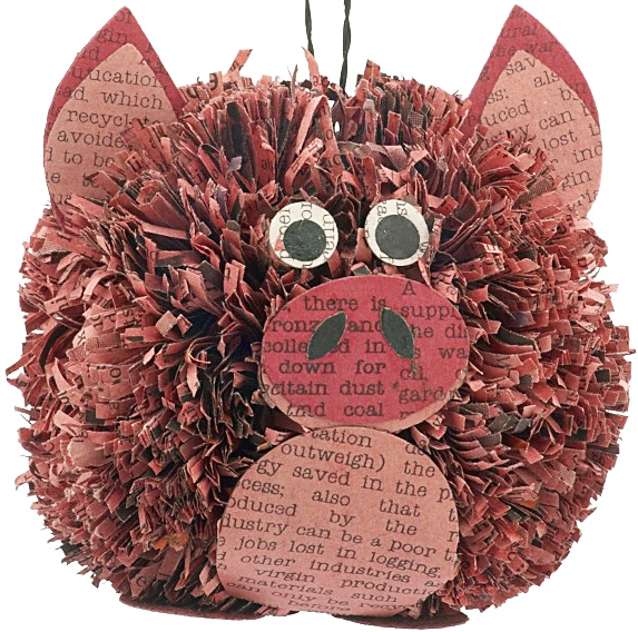 Go Green This Christmas With Adorable Recycled Newspaper ...