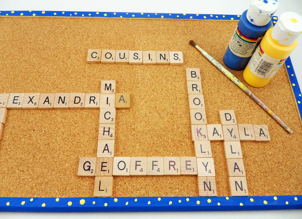 Scrabble Fun Using Scrabble Tiles Makes A Unique Gift
