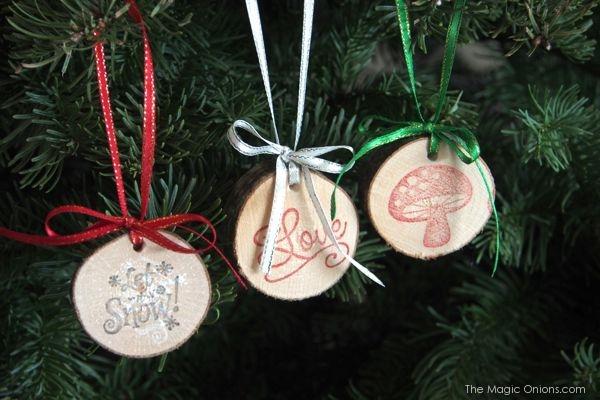 unique wood christmas ornaments
