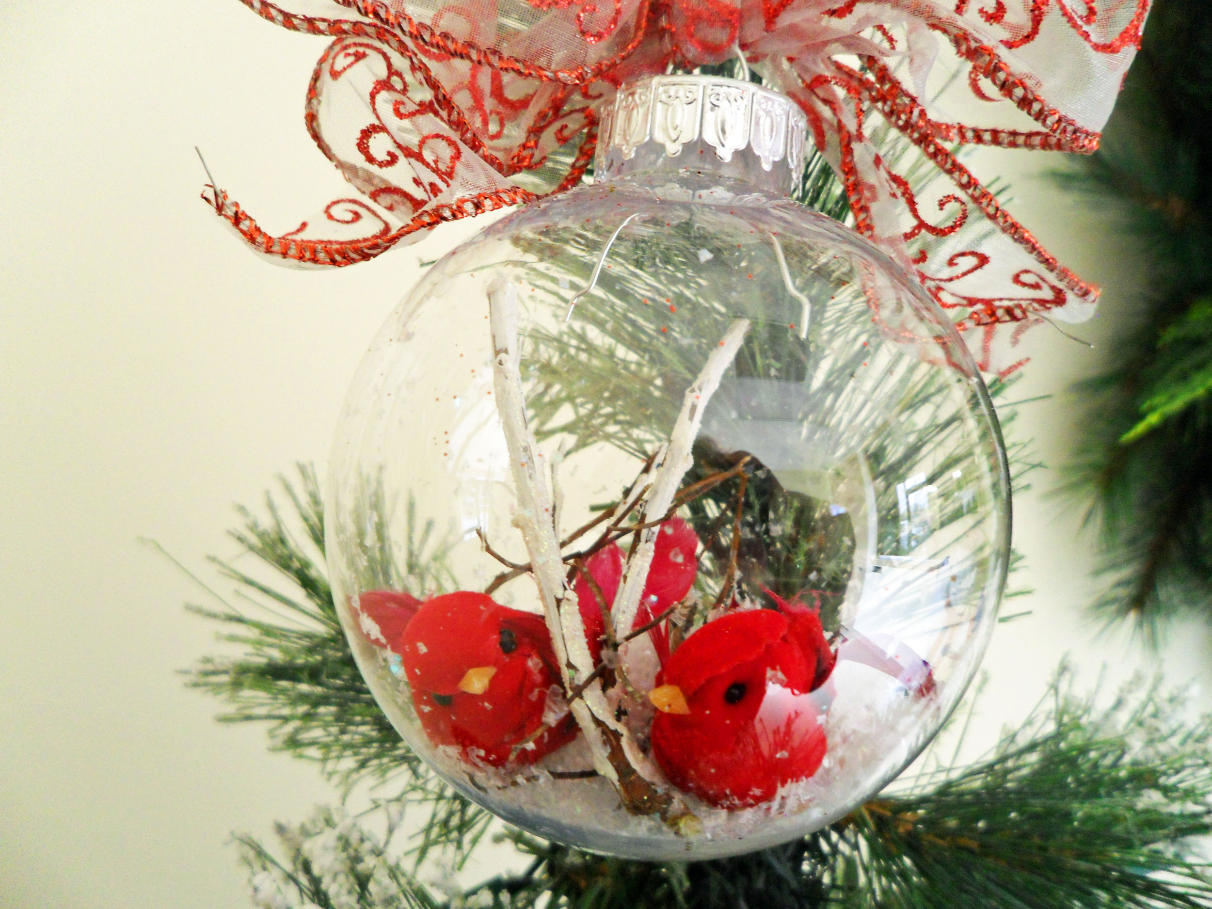 Diy Pretty Red Bird Ornament And Decoration