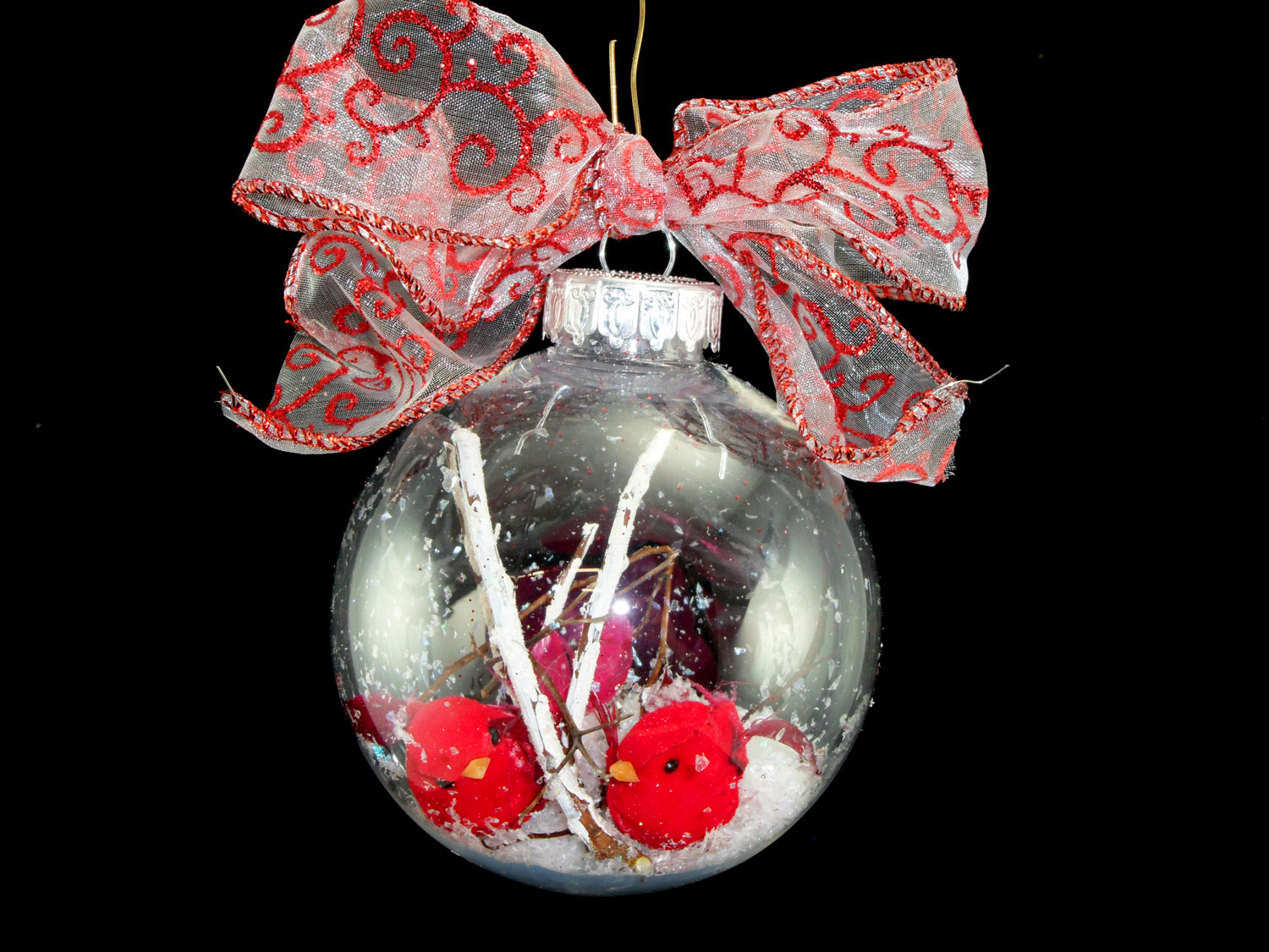 Christmas Decorations Red Birds : Diy pretty red bird ornament and decoration