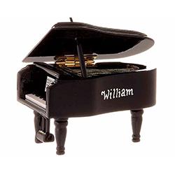 Grand Piano Ornament (Black) | OrnamentShop.com