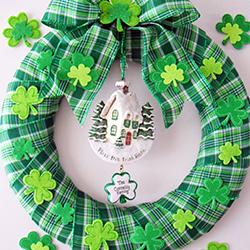 DIY St. Patrick's Day Wreath | OrnamentShop.com