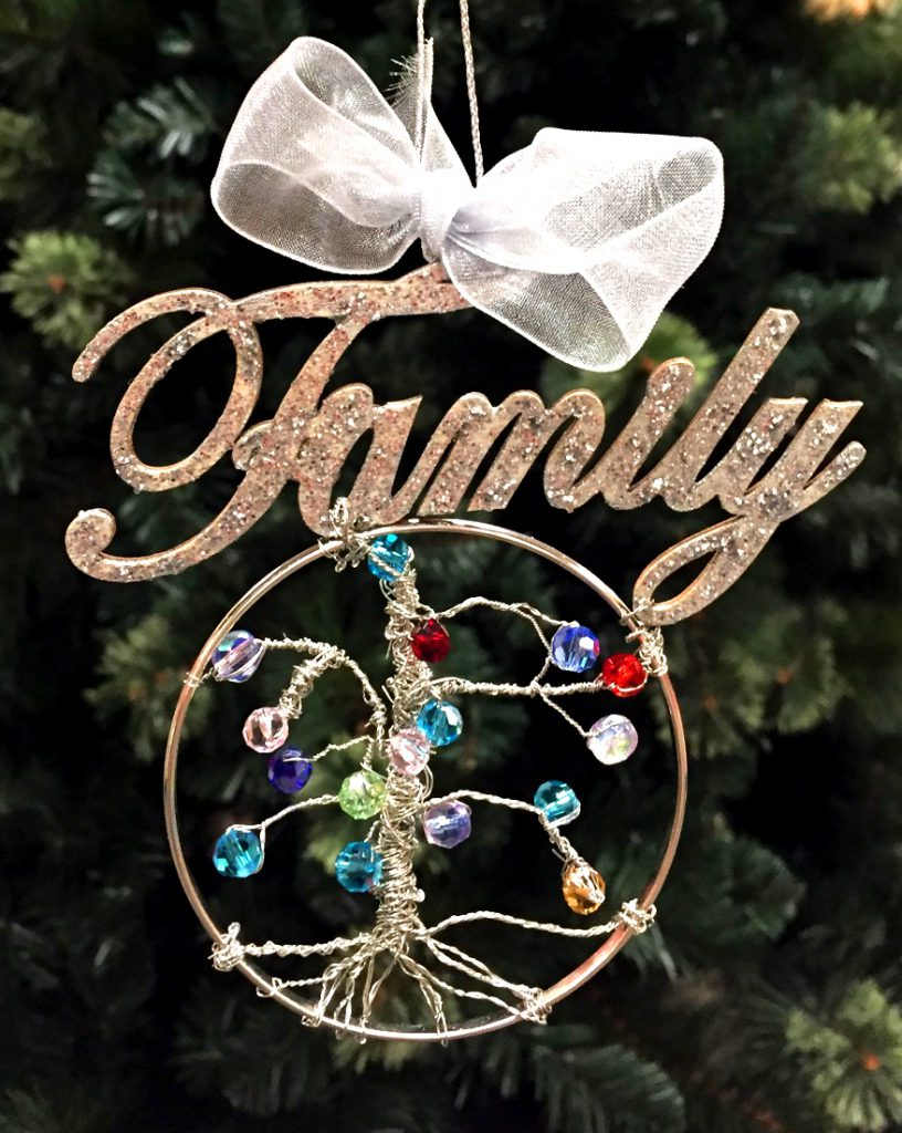 DIY Birthstone Family Tree Ornament - Christmas Crafts | Ornament Shop