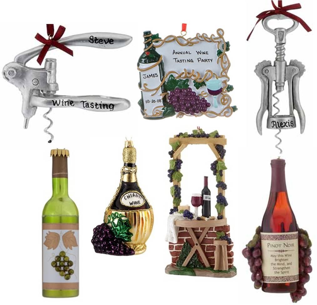 Wine bottle ornaments - Wine Cork Ornaments