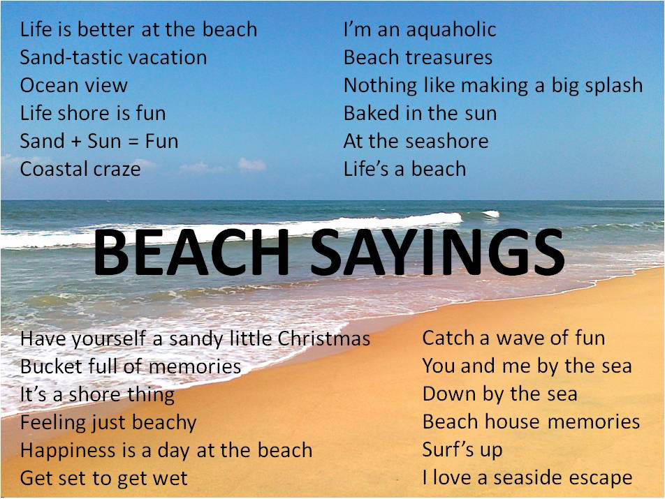 Cute Beach Quotes And Sayings For Kids