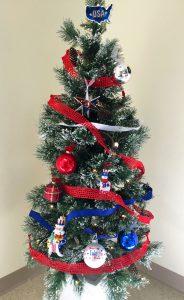 Patriotic Themed Christmas Tree | OrnamentShop.com
