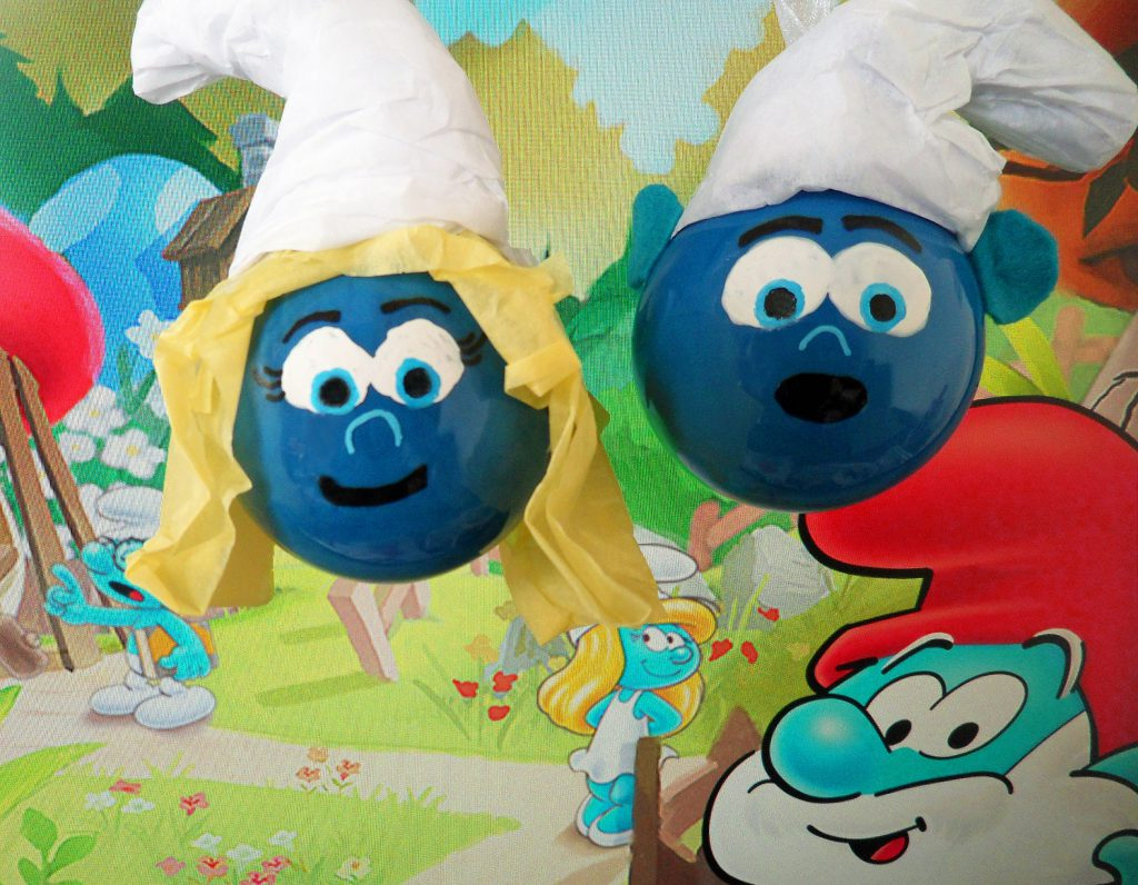 DIY Smurf Ornaments