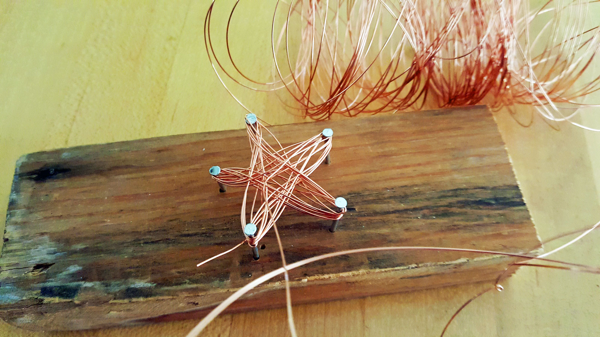 Step 3 is to tightly wind the wired around each point 6-7 times | OrnamentShop.com