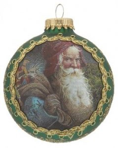 A Jultomten ball ornament, the traditional Santa Claus from Sweden | OrnamentShop