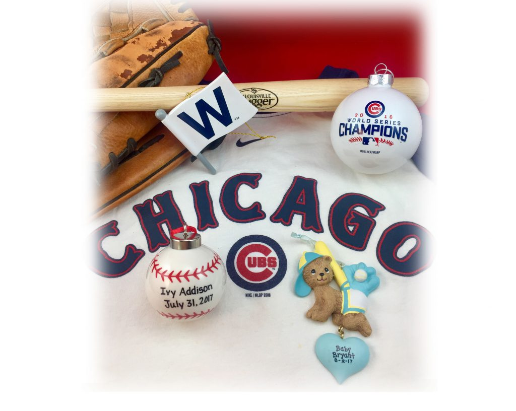 Baby's first Christmas ornaments to celebrate babies born following the Chicago Cubs 2016 World Series victory | OrnamentShop.com