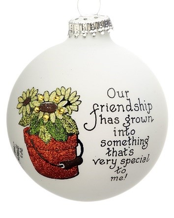 A garden ornament that reads our friendship has grown into something that's very special to me. | OrnamentShop.com