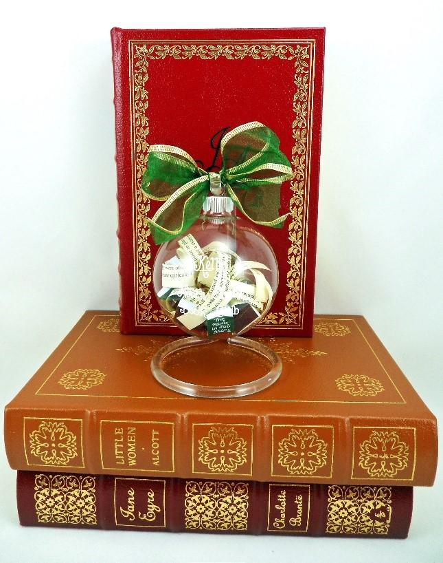 A DIY ornament to represent your favorite books. | OrnamentShop.com