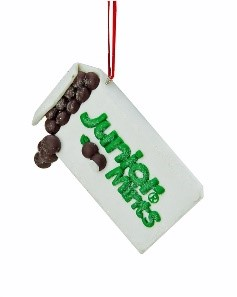 A box of Junior Mints Christmas ornament. | OrnamentShop.com