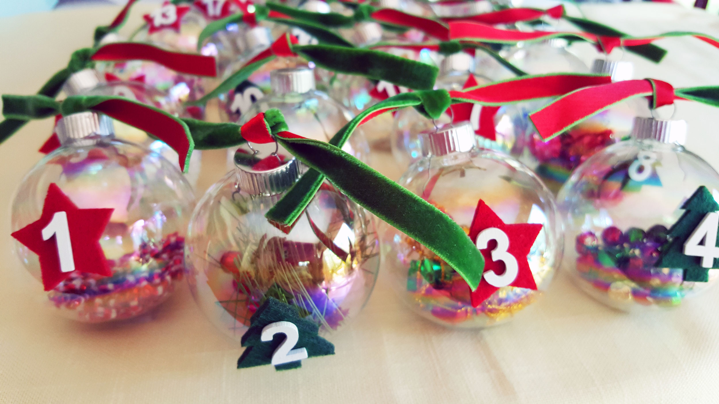 Advent Ornaments with fun unique objects in each one to count down until Christmas. | OrnamentShop.com