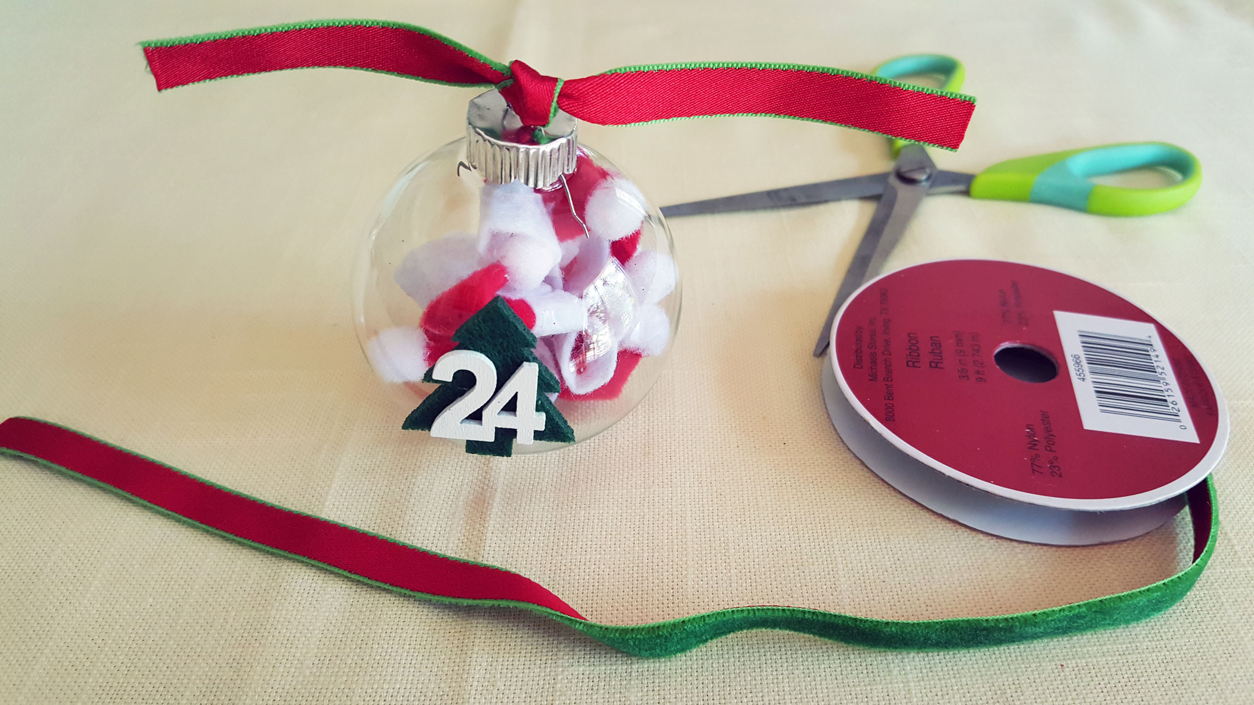 Step 3 is to tied ribbon to the top of each ornament. | OrnamentShop.com