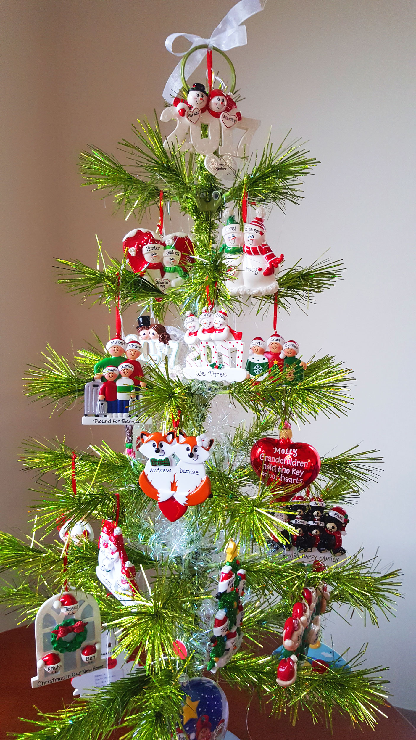 A collection of Personalized Family Ornaments for you to find the perfect ornament to represent your family this Christmas. | OrnamentShop.com