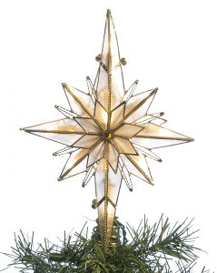 A bohemian star Christmas tree topper. | OrnamentShop.com