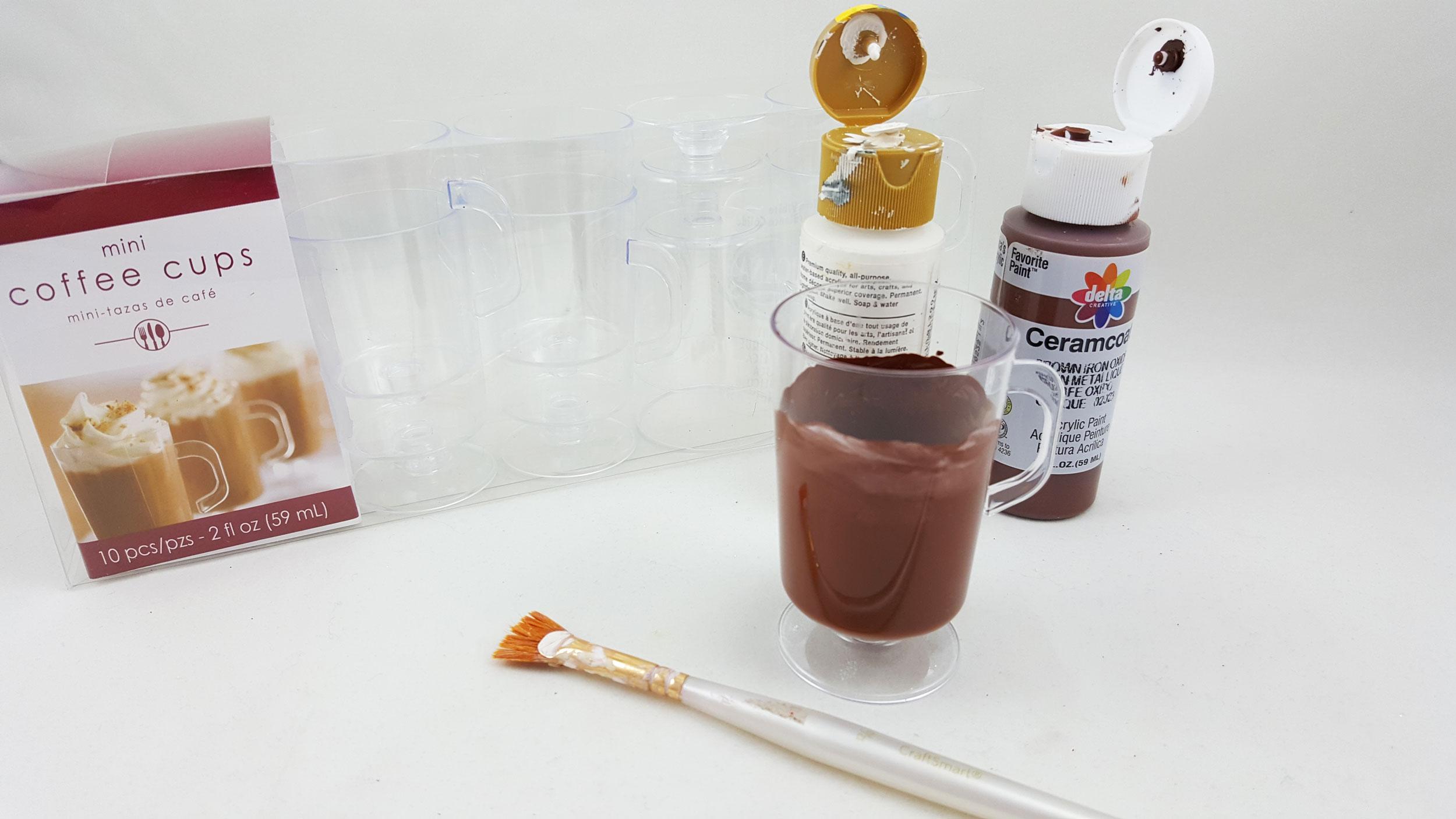 DIY Hot Chocolate Ornament - Step 1