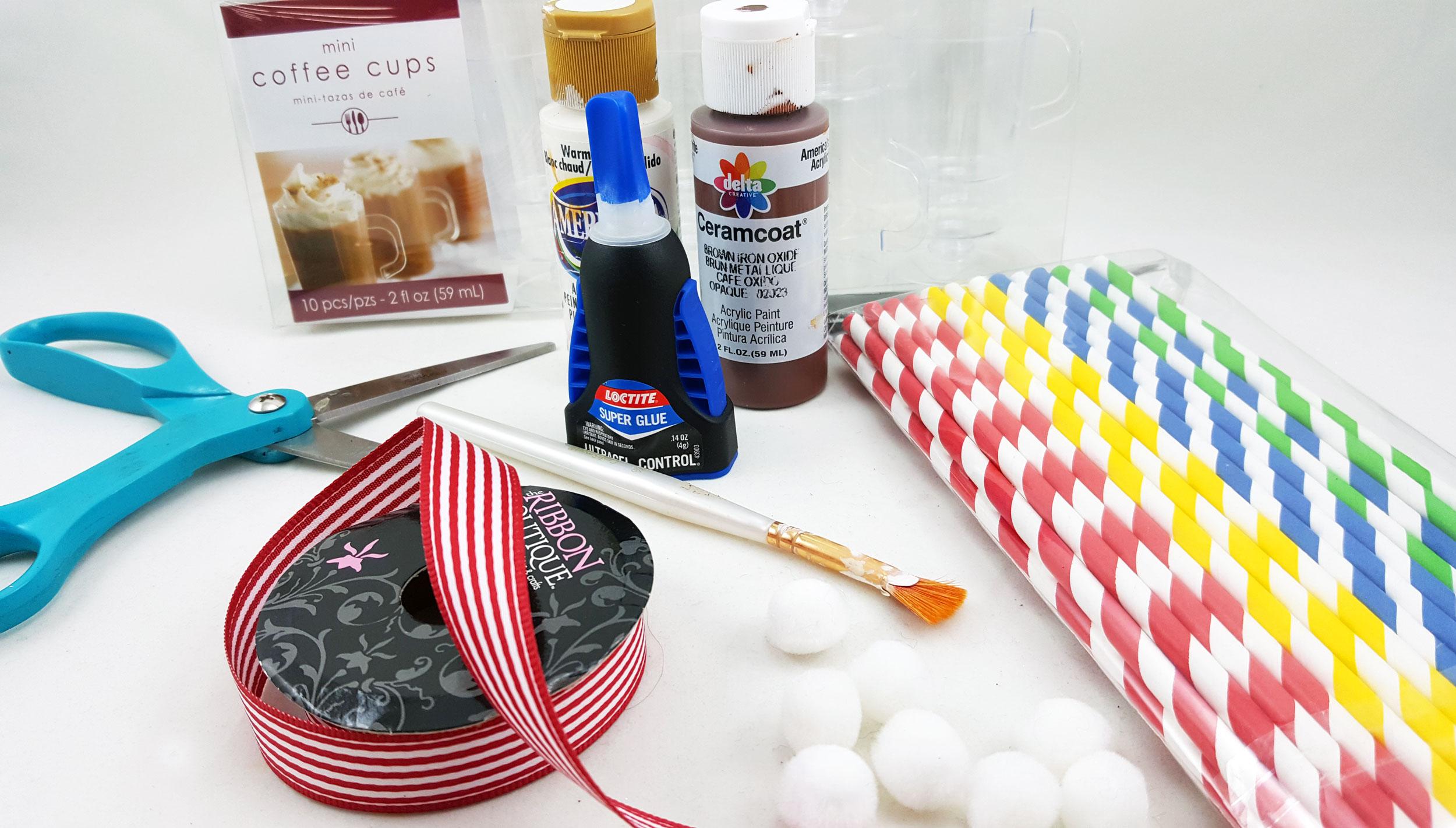 DIY Hot Chocolate Ornament Supplies