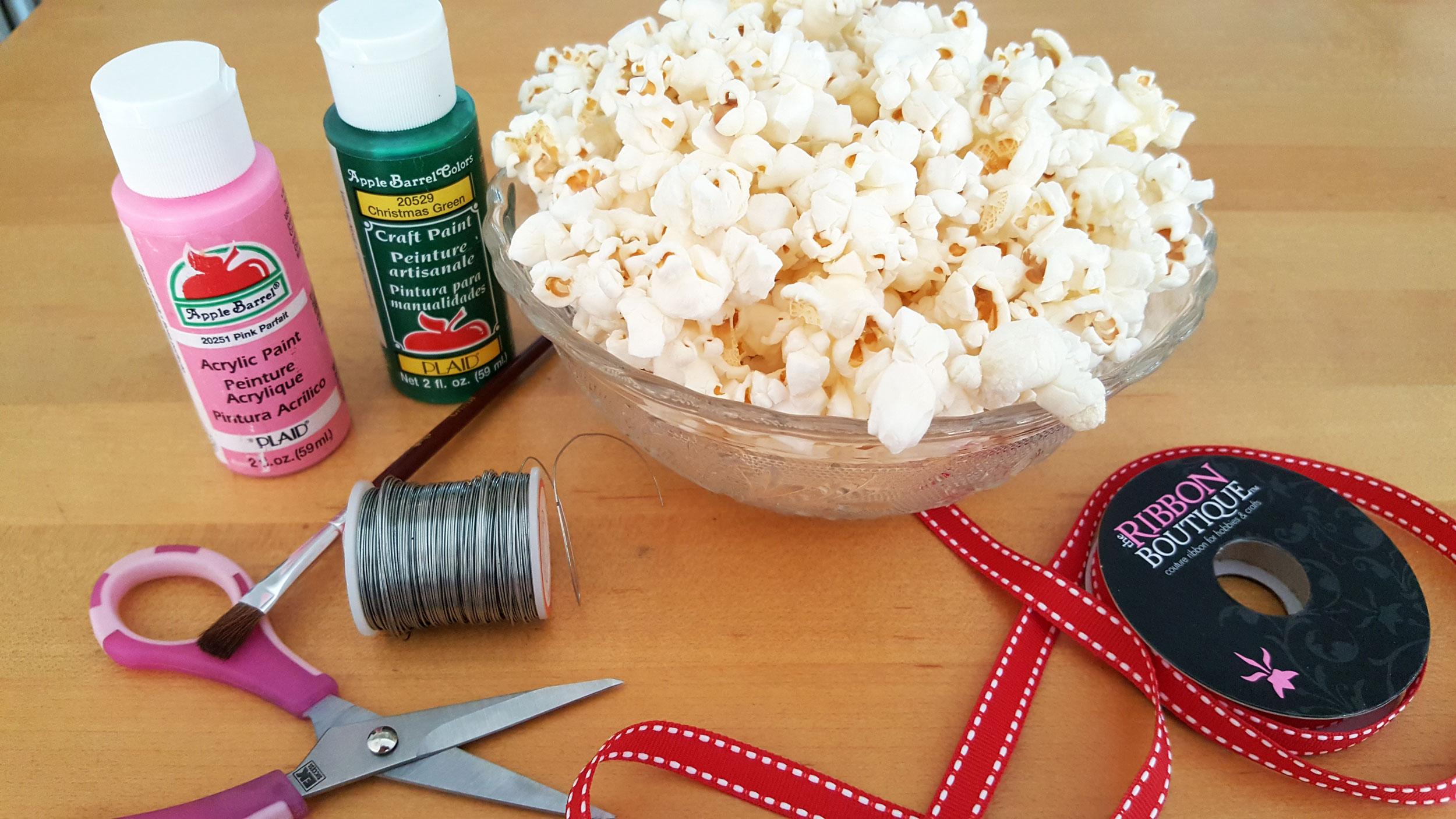 Popcorn Ornaments Supplies