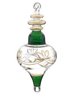 Lamp shaped glass Christmas ornament. | OrnamentShop.com