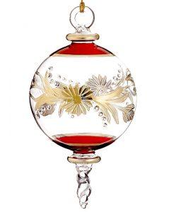 Sphere shaped glass Christmas ornament. | OrnamentShop.com