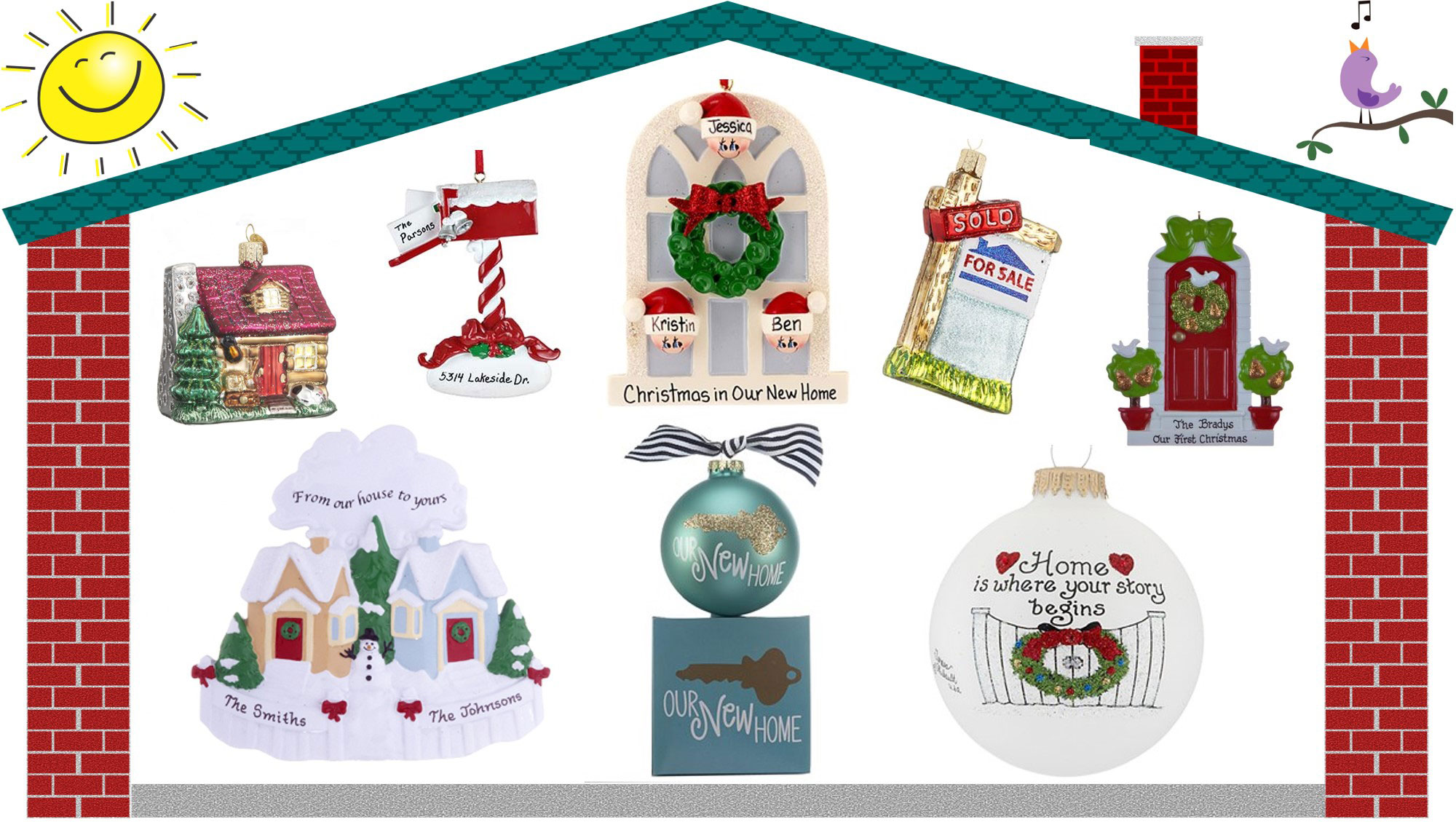 Variety of personalized home ornaments | OrnamentShop.com