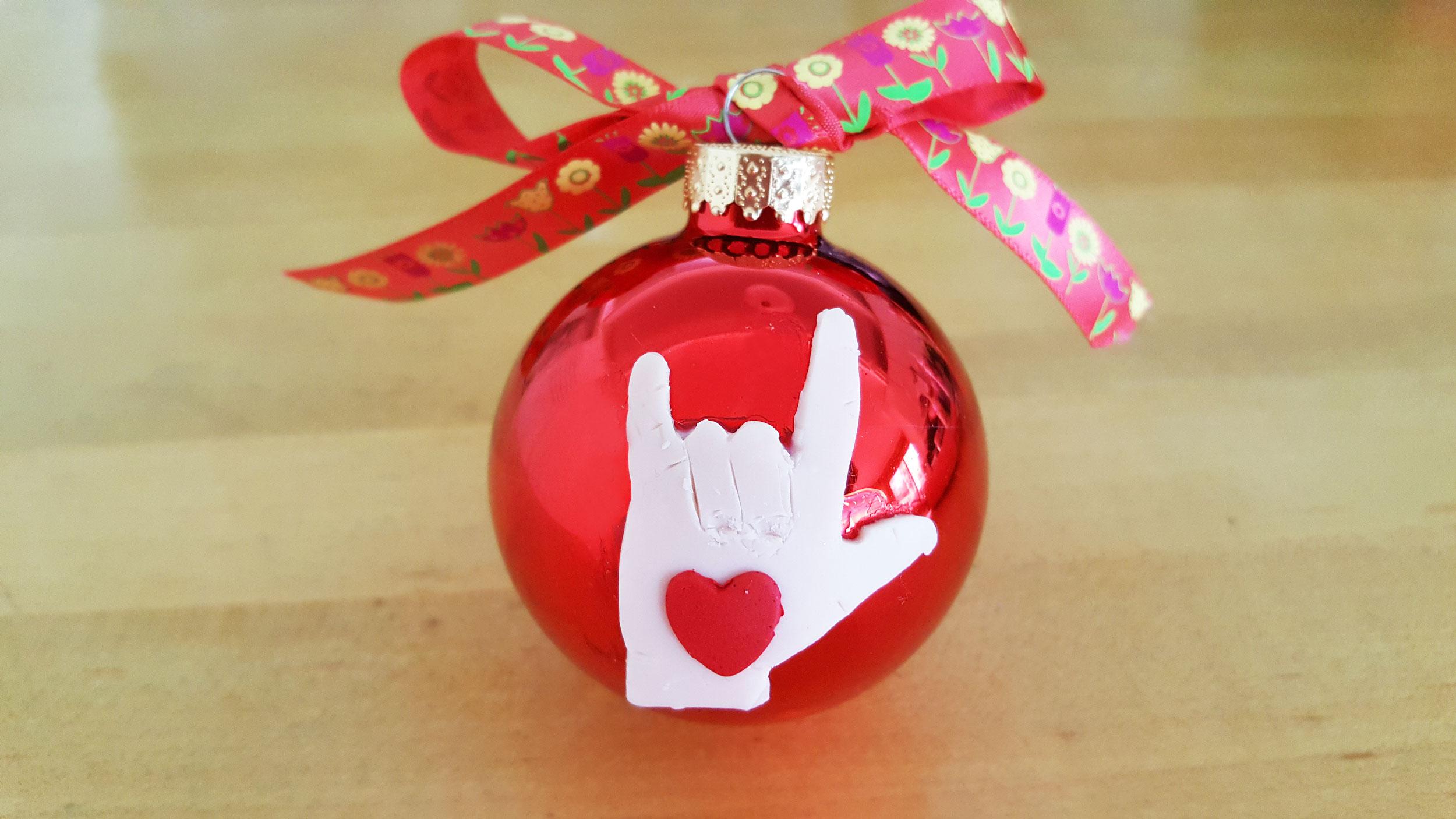 Completed Sign Language Ornament   OrnamentShop.com