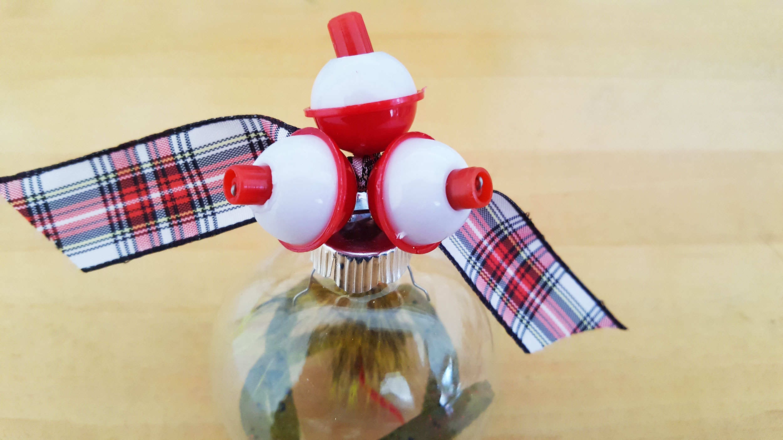Fishing Ornament topped with Bobber | OrnamentShop.com