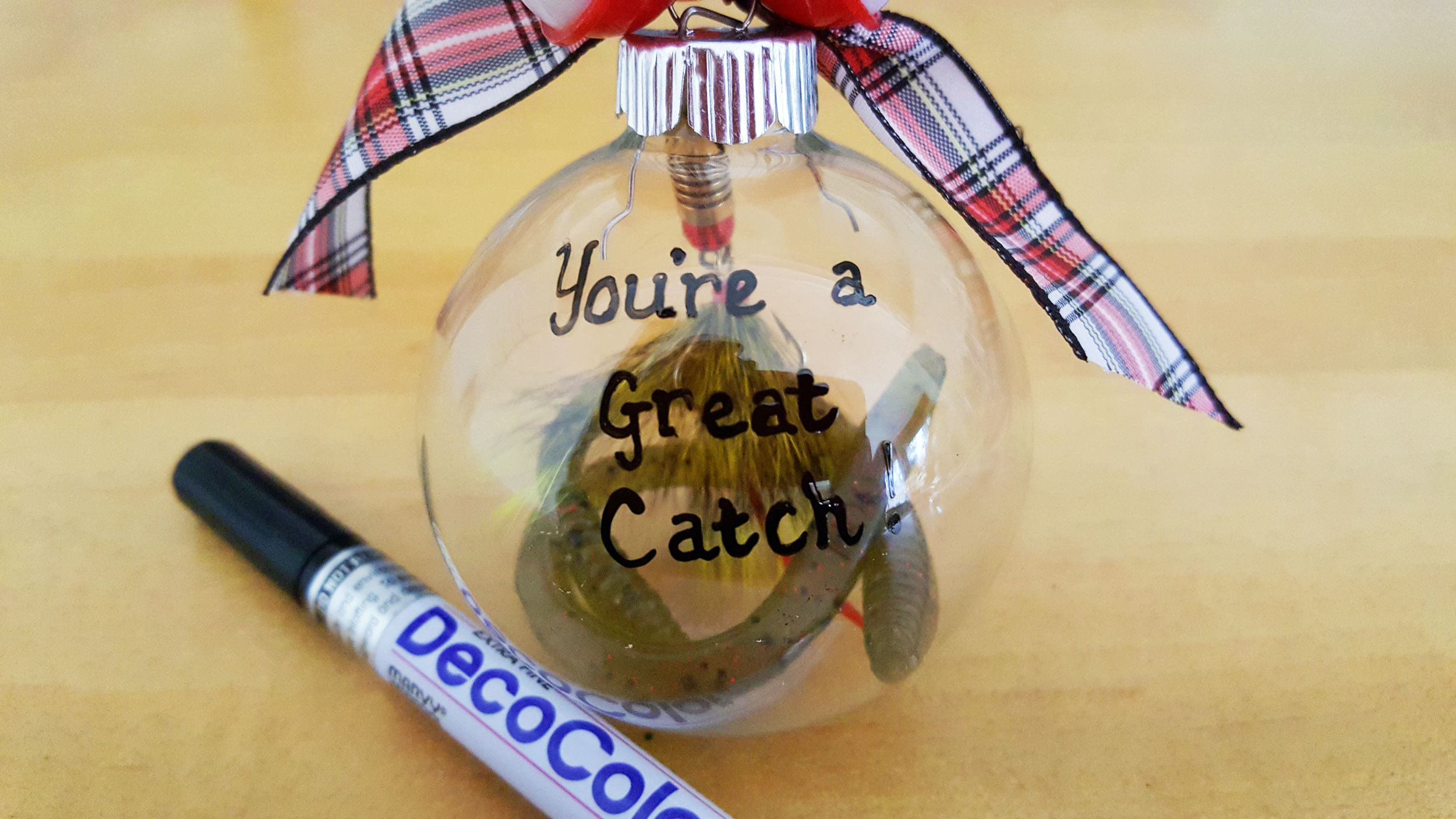 """""""You're a Great Catch"""" on Fishing Ornament 
