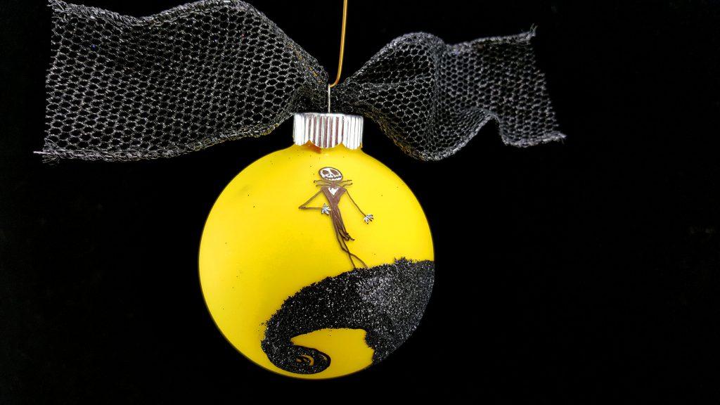 diy nightmare before christmas ornament glows in the dark