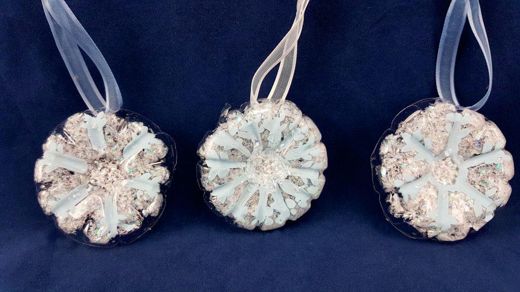 Diy Plastic Bottle Craft Snowflake Ornaments Ornament Shop