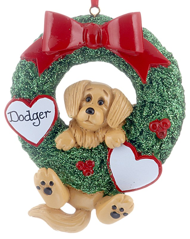 The perfect ornament for a family, this golden dog represents the family pet for Christmas. | OrnamentShop.com