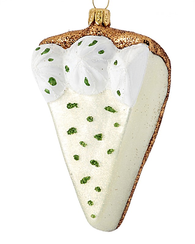 The perfect Christmas ornament for mom, a key lime pie to represent her cooking hobby or sweet tooth. | OrnamentShop.com