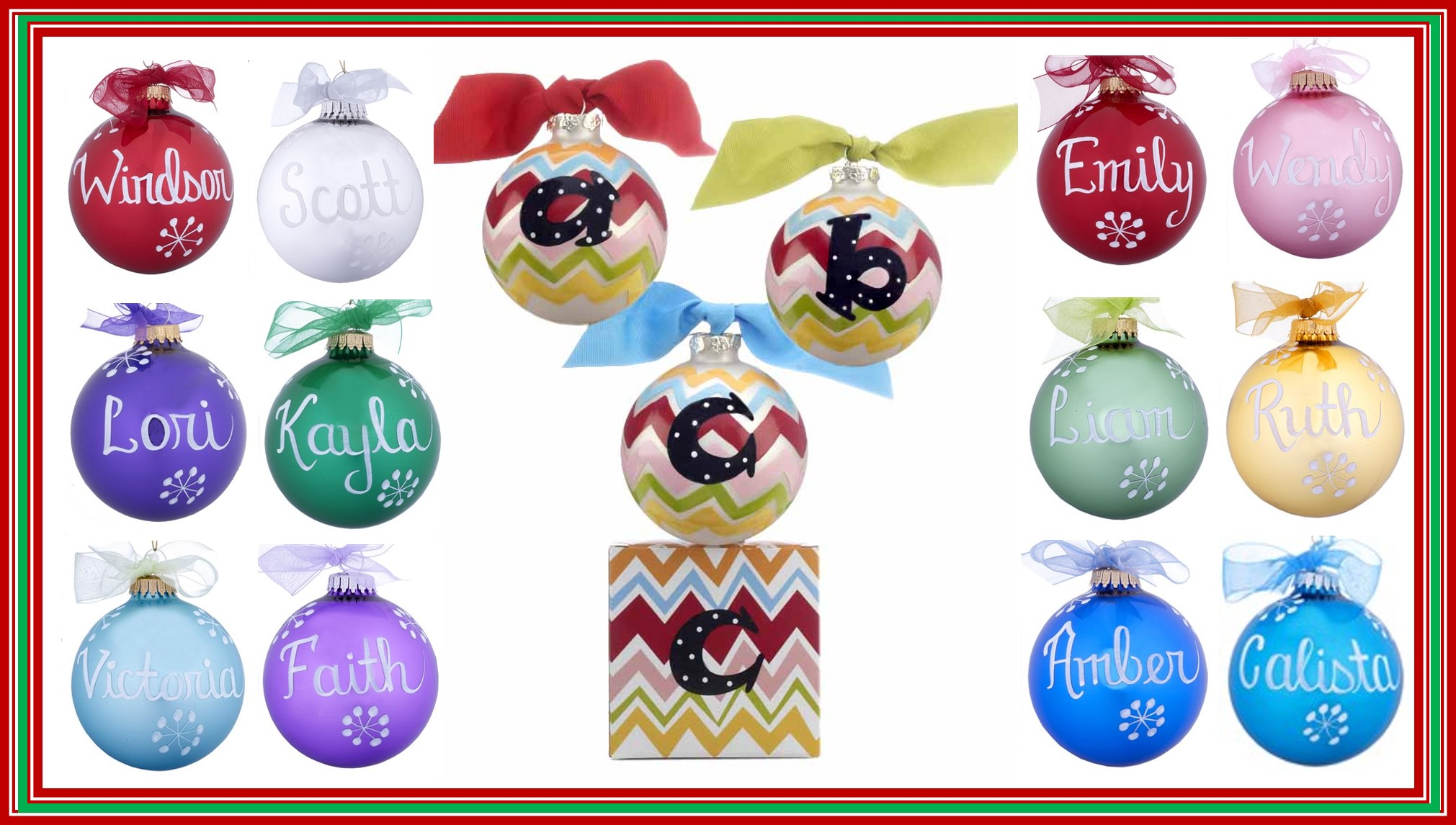 Initial Ornaments and Birthstone Ornaments. | OrnamentShop.com
