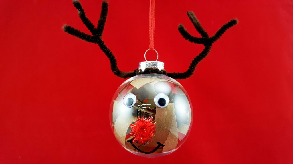 reindeer ornament completed