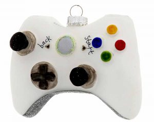 An XBox controller ornament that can be personalized with a friend's name for Christmas. | OrnamentShop.com