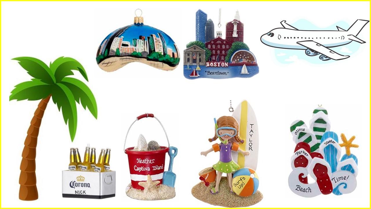 Travel ornaments at OrnamentShop.com. | OrnamentShop.com